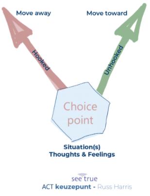 ACT keuzepunt Russ Harris opleiding I AM Instituut Aandacht Mindfulness